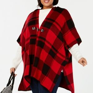 NWT!  Tommy Hilfiger Plus Size Toggle-Front Poncho